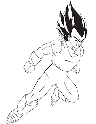cartoon dragon ball vegeta coloring u0026 coloring pages