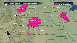 Wyoming Wildfires Map Critical Fire Weather Conditions For Montana And Wyoming