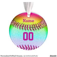 Softball Christmas Ornament - personalized softball christmas ornaments number name click http
