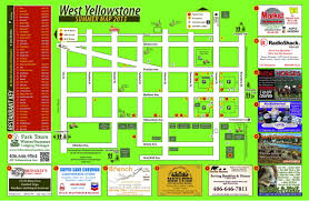 Show Me A Map Of Montana by Maps Town West Yellowstonetown West Yellowstone