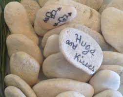 guest signing stones wedding stones etsy