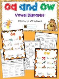 oa and ow worksheets and centers that are fun hands on and