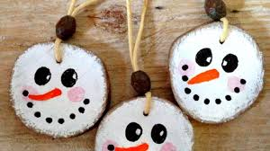 how to make cute wooden snowman xmas ornaments diy home tutorial