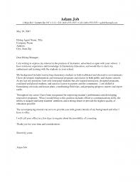 cover letter for resume examples for students cover letter videographer