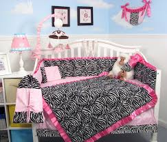 Zebra Bedroom Furniture Sets Amazon Com Soho Pink With Black U0026 White Zebra Chenille Crib