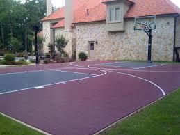backyard basketball court home sport court sport court south