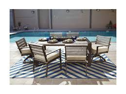 Outdoor Dining Room Sets Signature Design By Ashley Peachstone Outdoor Dining Table Set