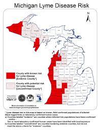 Michigan Maps Lyme Disease In Michigan Map Michigan Map