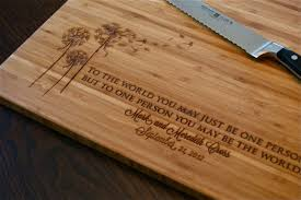 personalized engraved cutting board amazing handmade cutting board designs