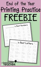free handwriting practice sheets a teachable teacher