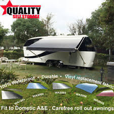 Vinyl Awning Fabric Dometic A U0026e 8300 8500 Blue 13ft Awning Fabric Only Ebay
