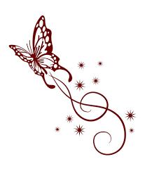 butterfly swirl designs clipart