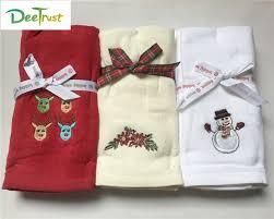christmas towels 3pcs decorative santa claus luxury cotton christmas towel set