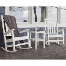 Elite Folding Rocking Chair by Polywood Presidential Rocking Chair 3 Piece Set