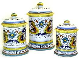 italian kitchen canisters tuscan kitchen canisters sets finest decorative kitchen canisters