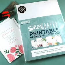 invitation kits new floral designs for our seed paper printable wedding
