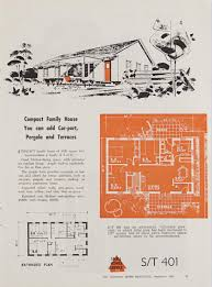 1950s Ranch House Plans Post War Sydney Home Plans 1945 To 1959 Sydney Living Museums