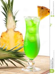 pineapple martini recipe green tropical cocktail with pineapple slice royalty free stock