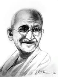 awesome pencil sketch of mahatma gandhi desipainters com