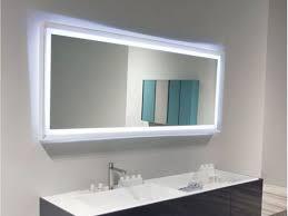 Rectangular Bathroom Mirrors Bathroom Rectangular Led Lighted Bathroom Mirror Ideas Cool