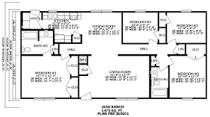 4 bedroom ranch floor plans premier ranch and bi level homes floor plans homes from gary s