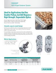 flexco bolt hinged fastener system flexco pdf catalogue