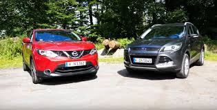 2015 nissan qashqai vs ford kuga comparison test reveals suv