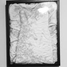 michaels framed my wedding dress in a custom shadow box i waited