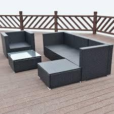 Patio Wicker Furniture - 6 pcs patio rattan furniture set outdoor furniture sets