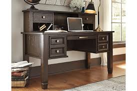 Writing Desks For Home Office Townser Home Office Desk With Hutch Furniture Homestore