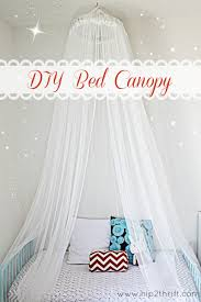 Diy Canopy Bed With Lights Craftaholics Anonymous How To Make A Bed Canopy