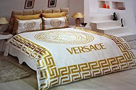versace bedroom set amazon com new satin bedding set versace with dhl express