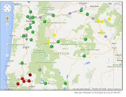 map of oregon smoke regional air quality remains compromised but worst near big fires