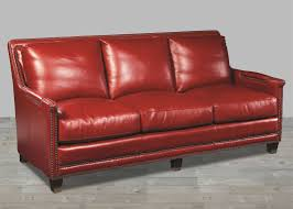 Red Leather Chesterfield Sofa by Supple Red Leather Prescott Sofa In Old World Finish