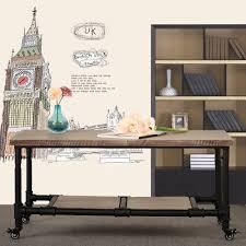 wood ikayaa rustic pinewood coffee tea table with storage steel