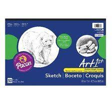 art1st sketch pad 18inx12in white 50 sheets ebay