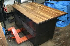 real industrial edge furniture llc industrial kitchen island