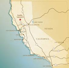 Sonoma California Map Map Napa Valley California California Map