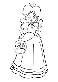 supermario coloring girls printable 2