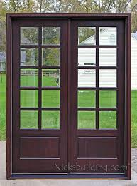 leaded glass french doors 8ft tall patio doors with ten 10 single lite clear beveled glass