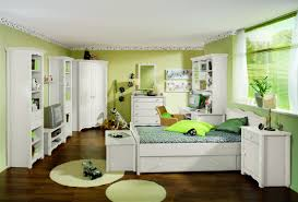 White Painted Bedroom Furniture Bedroom Awesome Green White Wood Cute Design Girls Beautiful