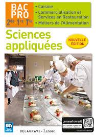 sciences appliqu s cap cuisine sciences appliquées 2de 1re tle bac pro cuisine et csr 2016