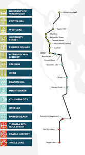 Light Rail Map Seattle Link Light Rail Emily Irelan