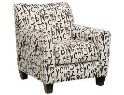 High Back Accent Chairs Slumberland Aero Collection Graffiti Accent Chair