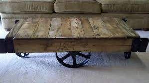 railroad cart coffee table ana white factory carts to coffee tables diy projects