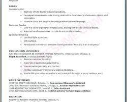 Resume Flight Attendant Sample Resume For Flight Attendant With No Experience Flight