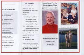 funeral programs exles memorial program how to write a memorial program free tips funeral