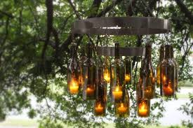Whiskey Bottle Chandelier 60 Creative Diy Glass Bottle Ideas For Your Outdoor Living Space