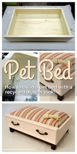 how to make a diy dog bed with a recycled drawer look pet beds