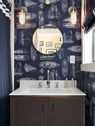 wallpaper designs for bathrooms bathroom wallpaper houzz
